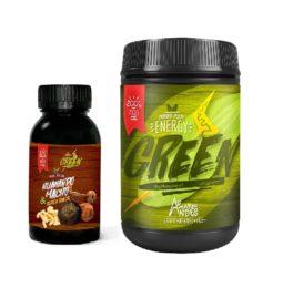 Huanarpo Macho and Black Maca Capsules plus Energy Green Powder pack for Men