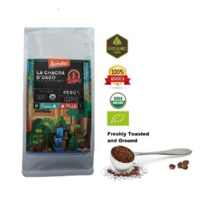 Ground Coffee (250g – 8.82) – Arabica - Medium Roast -Biodynamic and Organic Certified
